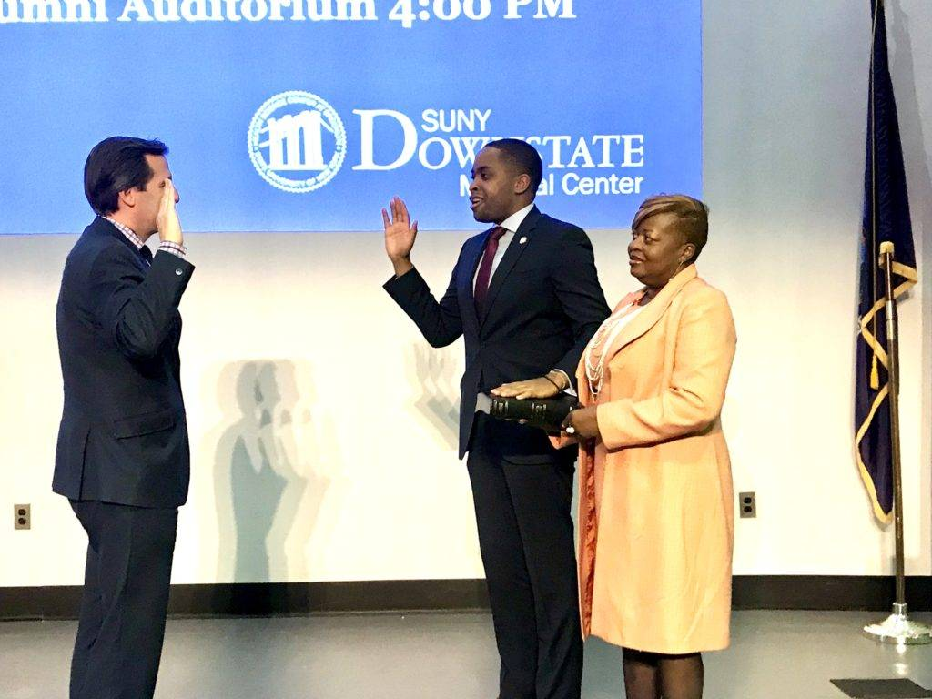 Myrie Takes Oath of Office, Rings in 'A New Day in the 20th District'